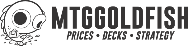 MTGGoldfish Black and White Logo